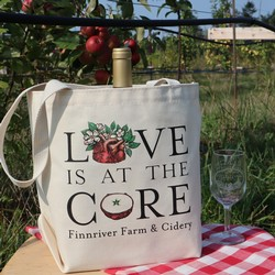 Love is at the Core 6 Bottle Tote