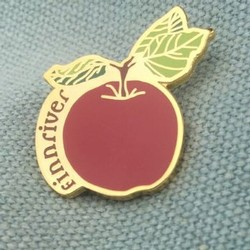 Enamel Apple Pin