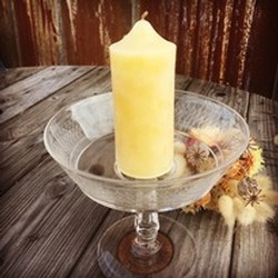 Live Light Beeswax Smooth Pillar Candle