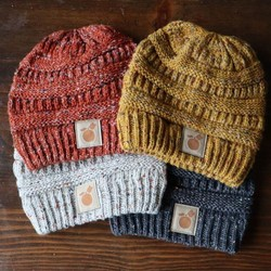 Speckled Beanie with Apple